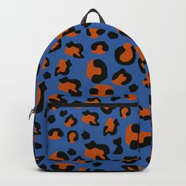 Jungle - Leopard Pattern Blue Backpack
