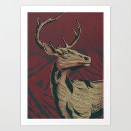 The Deer Art Print