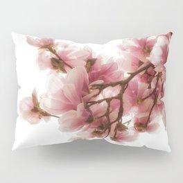Magnolia tree, pretty pink blooms Pillow Sham