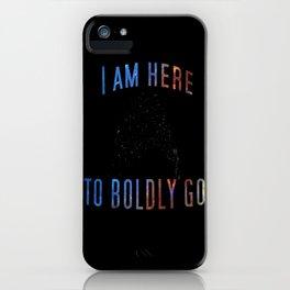 Boldly Go iPhone Case