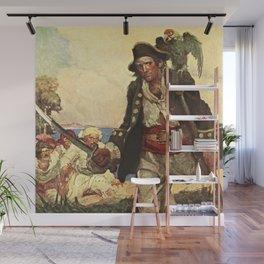 """Long John Silver"" Pirate Art by Louis Rhead Wall Mural"