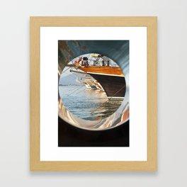 Through the Porthole Framed Art Print