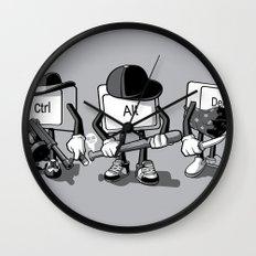 Computer Mafia Wall Clock