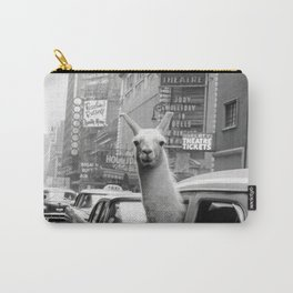 Llama Riding In Taxi Carry-All Pouch