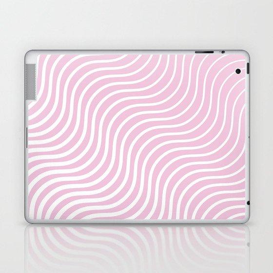 Whiskers Light Pink & White #308 Laptop & iPad Skin