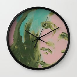Looking At You, in Pink Wall Clock