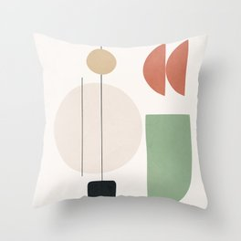 Minimal Shapes No.57 Throw Pillow