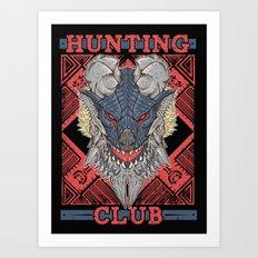 Hunting Club: Stygian Zinogre Art Print