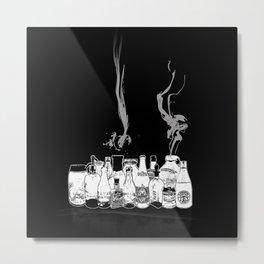 Moonshine - Any bottle will do - distilled spirits-Booze Metal Print
