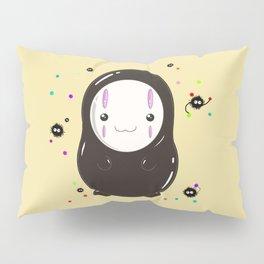 Spirited Away No Face Kawaii With Soot Sprites Pillow Sham