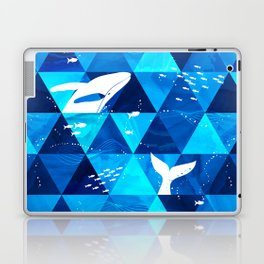 Blue Whale Jumping Laptop & iPad Skin