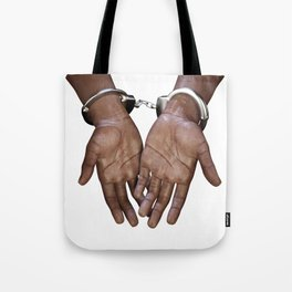 Hands with handcuffs Tote Bag