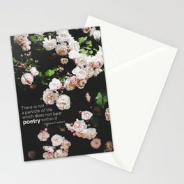 Roses, the Poetry of Life and Flaubert Stationery Cards