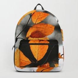 Orange Leafs (Color) Backpack