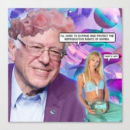 That's Hot, Bernie Canvas Print