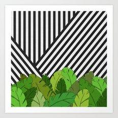 Green Direction Art Print