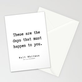 12    | Walt Whitman Quotes | 190803 Stationery Cards