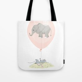Elephant in a balloon Tote Bag