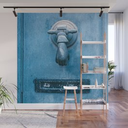 Blue Doorknocker Wall Mural