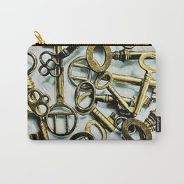 Vintage Skeleton Key Photograph Series Photo 3 – Metallic Gold - by Jéanpaul Ferro Carry-All Pouch