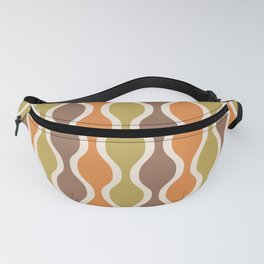 Classic Retro Ogee Pattern 846 Orange Brown and Olive Fanny Pack