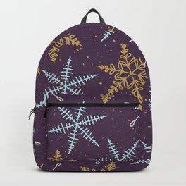 Shiny Winter Purple Backpack