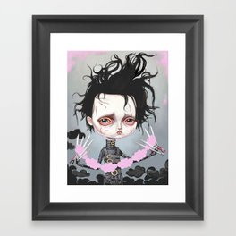 Edward Scissorhands Is Sad Framed Art Print