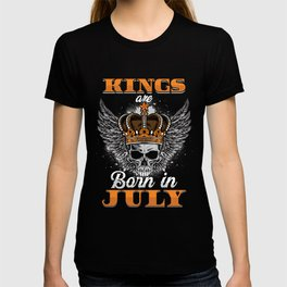 Kings Are Born In July Birthday Gift T-shirt
