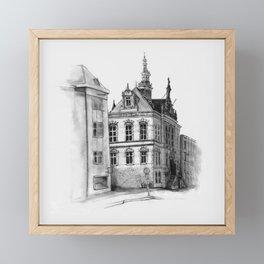 Old building on the Amstel Amsterdam Framed Mini Art Print