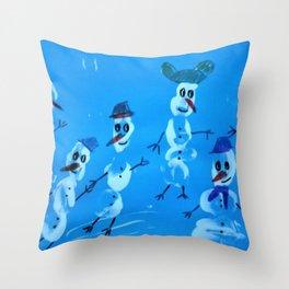 snowmen art150 Throw Pillow
