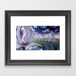 Mechanical Blossom Framed Art Print