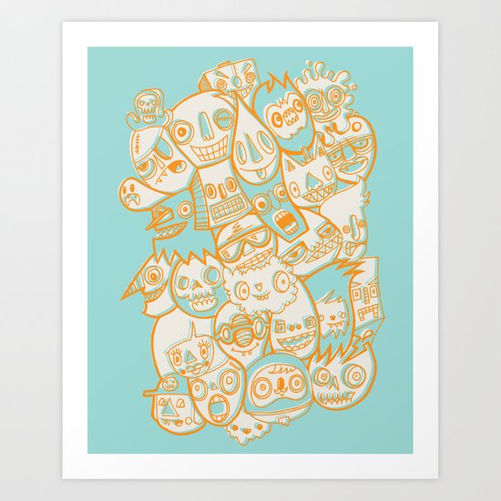 Faces II Art Print
