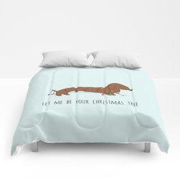 SAUSAGE DOG CHRISTMAS TREE Comforters