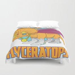 Flyceratops Duvet Cover