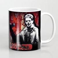 lou reed Mugs featuring Lou by Alan Hogan
