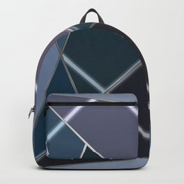Mosaic tiled glass with a laser show Backpack