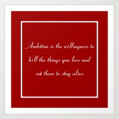 Ambition in Red Art Print