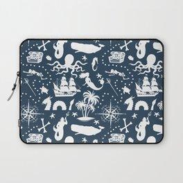High Seas Adventure on Navy Laptop Sleeve