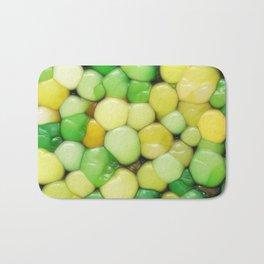 Lemon Lime Abstract Bath Mat