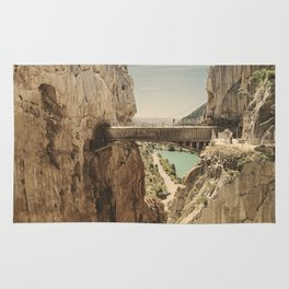 """The most dangerous trail in the world"". El Caminito del Rey Rug"