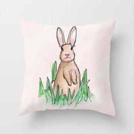 Sweet Little Bunny Rabbit Throw Pillow