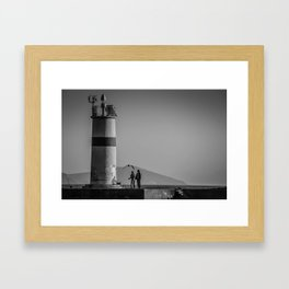 Istanbul : A Fusion of Black and White Framed Art Print