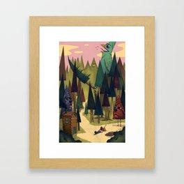 Treebark & Timbird Framed Art Print