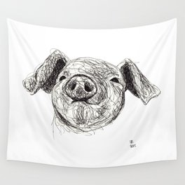 Baby Animals - Pig Wall Tapestry