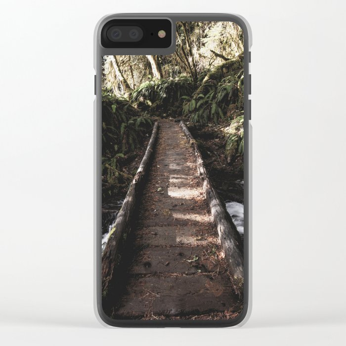 Hoh Rainforest River Trail Clear iPhone Case