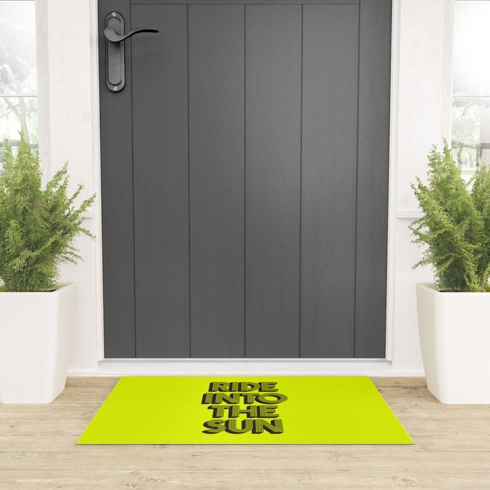 Ride Into The Sun Welcome Mat