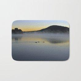 Serene Morning on Lake George Bath Mat