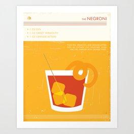 Negroni Cocktail Art Art Print
