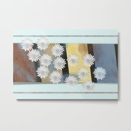 Floral card Metal Print