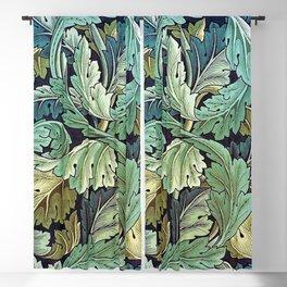 William Morris Herbaceous Italian Laurel Acanthus Textile Floral Leaf Print  Blackout Curtain